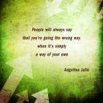 People will always say…