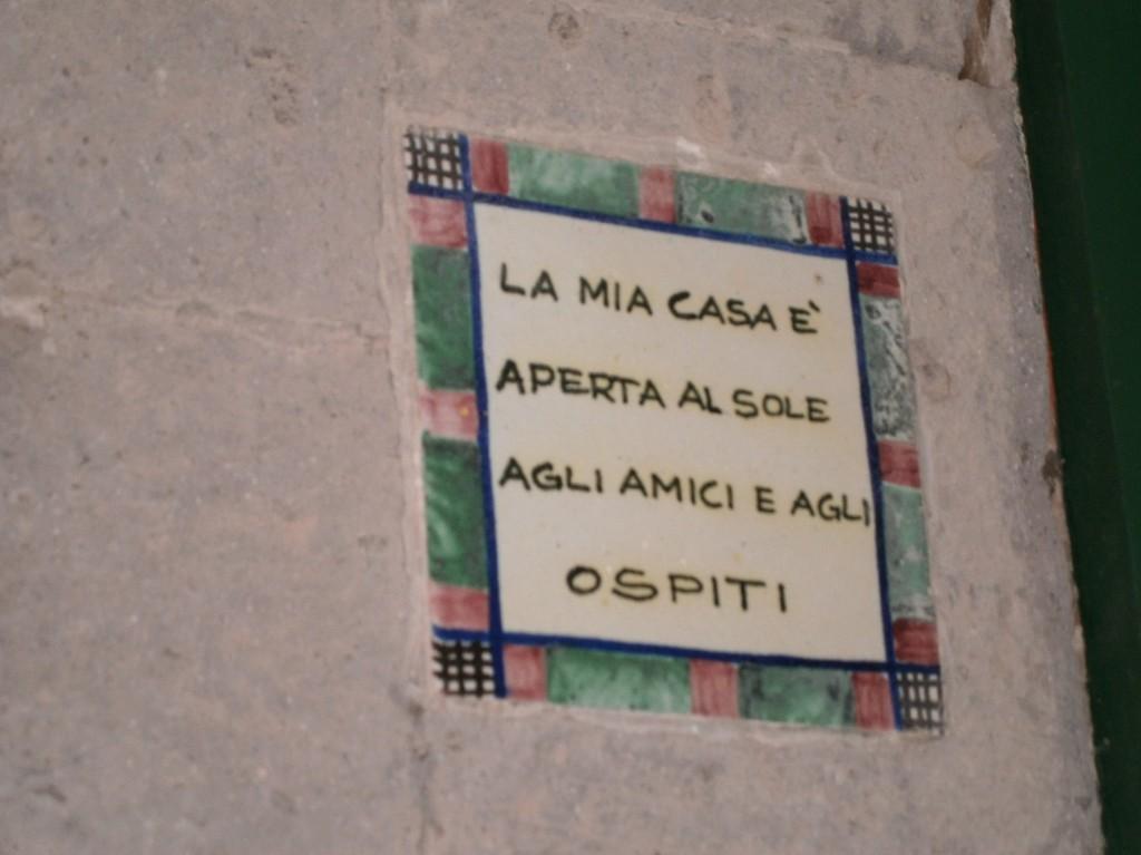 la mia casa e aperta - Ravello