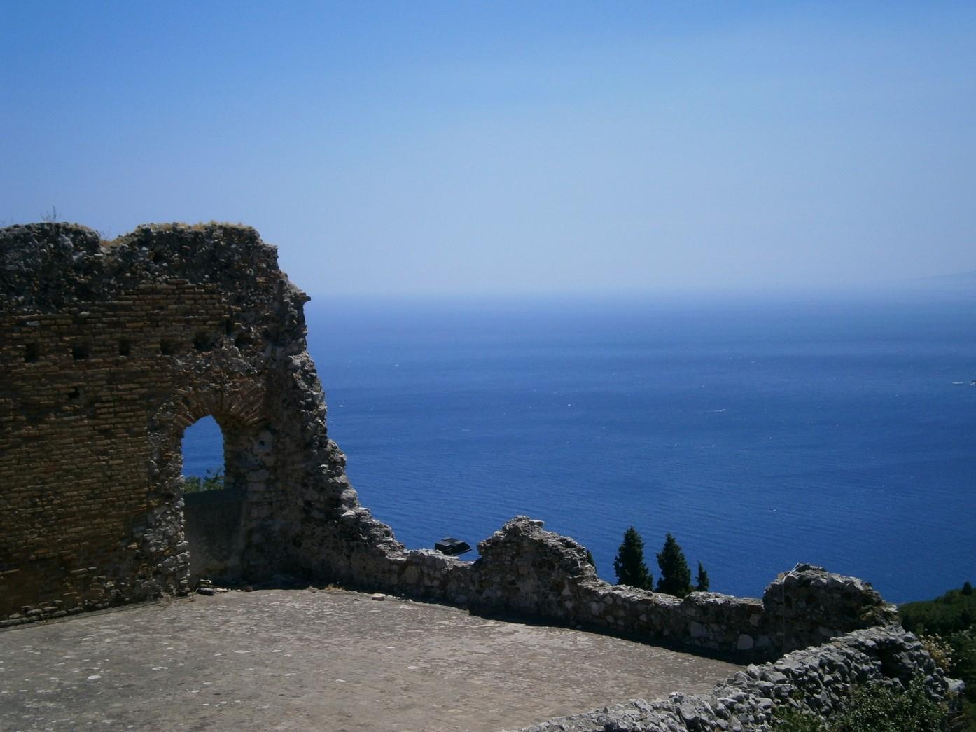 teatro greco taormina - vedere spre mare