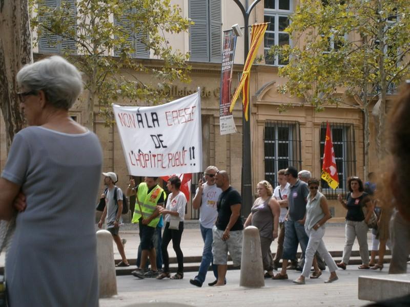 Aix en Provence protest