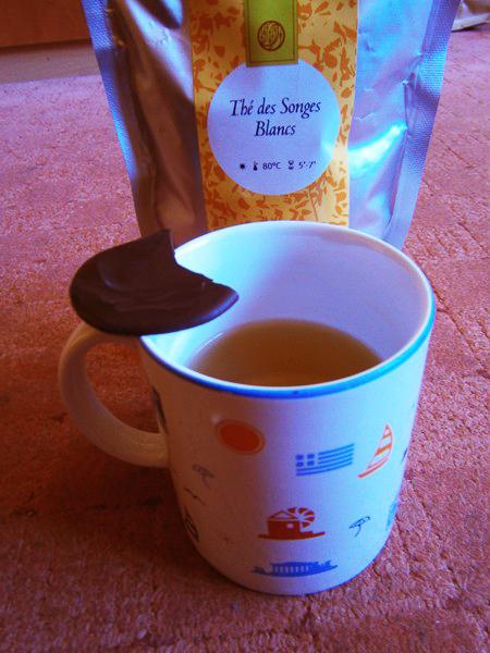 ceai alb si ciocolata