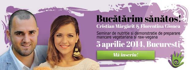 bucatarim sanatos seminar de nutritie vegetariana si raw vegana