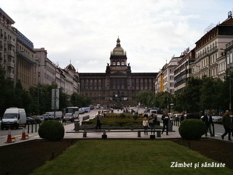 Praga-Vaclavske-namesti-şi-Muzeul-Naţional