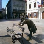 La vânătoare de statui în Bratislava