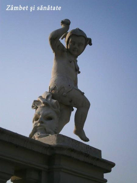 detaliu statuie palat belvedere viena