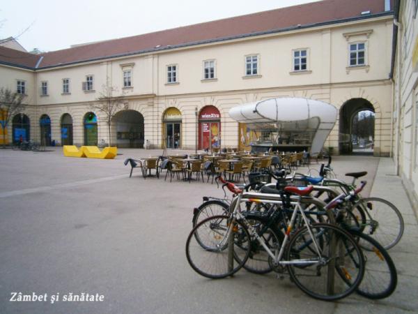 viena cartierul muzeelor biciclete