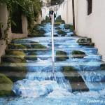 O nouă pictură pe treptele străzii Xenofon