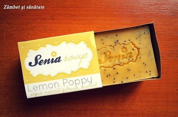 senia sapun natural lemon poppy