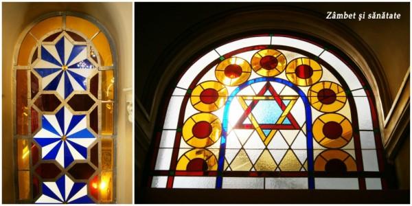 vitralii templul coral bucuresti