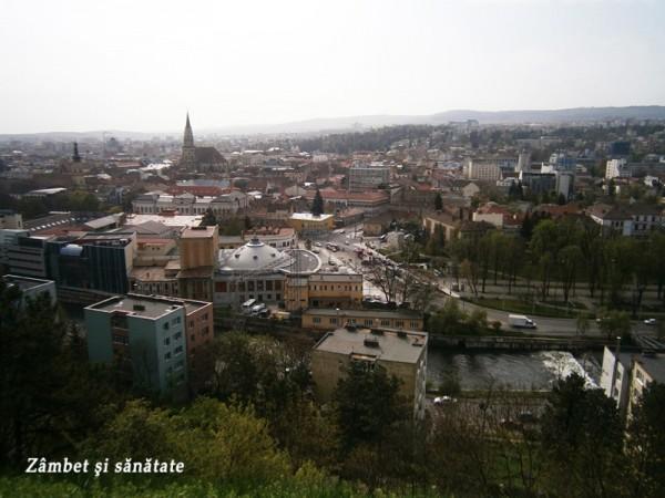 764. Cluj-Napoca: panorama de pe Cetăţuie