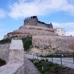 Cetatea Deva și o panoramă verde
