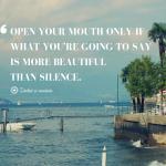 Lasă liniștea să vorbească