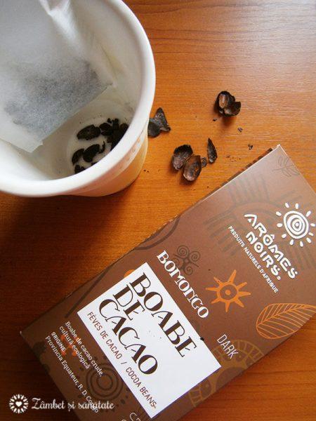 ceai de ciocolata din boabe de cacao