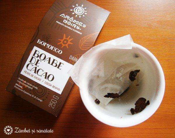 ceai verde si boabe de cacao