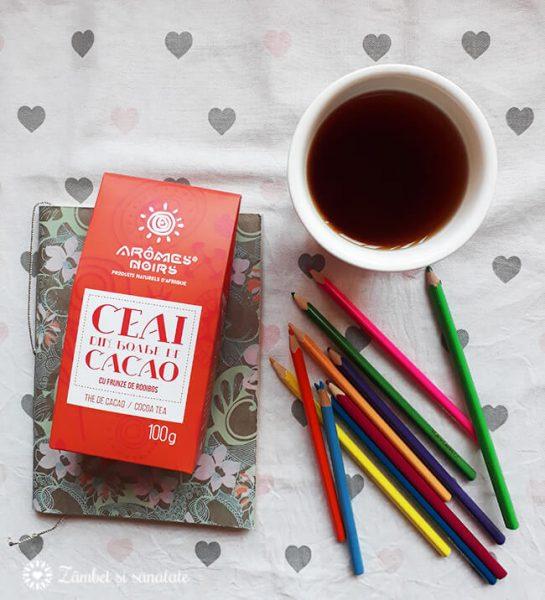ceai boabe de cacao si rooibos