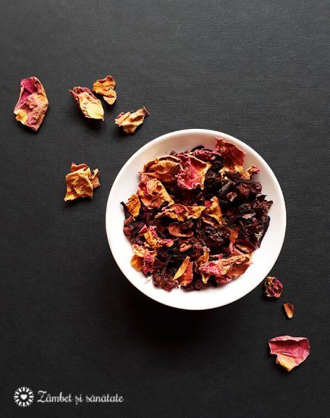 ceai cacao si trandafiri aromes noirs