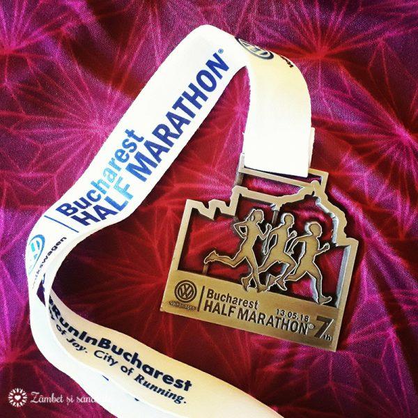medalie semimaraton bucuresti 13 mai 2018