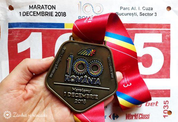 medalie maraton 1 decembrie 2018
