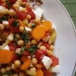 Colorat şi delicios: salată de năut